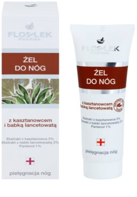 FlosLek Pharma Leg Care Horse Chestnut & Plantain хидратиращ гел  за уморени крака 1