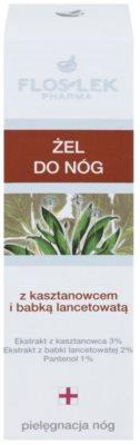 FlosLek Pharma Leg Care Horse Chestnut & Plantain hydratační gel pro unavené nohy 2