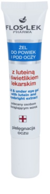 FlosLek Pharma Eye Care gél na očné okolie s očiankou a luteínom