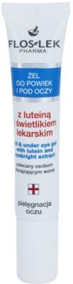 FlosLek Pharma Eye Care Gel  pentru jurul ochilor cu luteina si luminator medicale