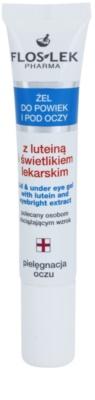 FlosLek Pharma Eye Care гель для шкіри навколо очей з лютеїном та очанкою лікарською