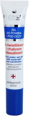 FlosLek Pharma Eye Care gel para o contorno dos olhos com eufrásia e centáurea