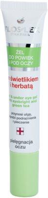FlosLek Pharma Eye Care gel para o contorno dos olhos com chá verde