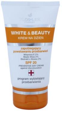 FlosLek Pharma White & Beauty crema de día protectora  SPF 20