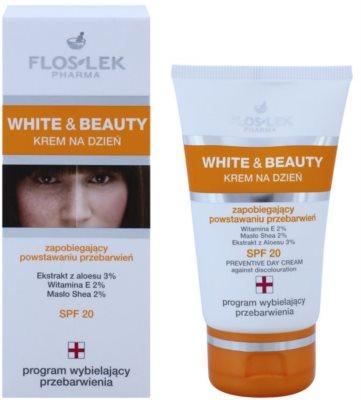 FlosLek Pharma White & Beauty захисний денний крем SPF 20 2