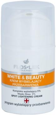 FlosLek Pharma White & Beauty fehérítő krém a helyi ápolásért