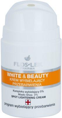 FlosLek Pharma White & Beauty crema cu efect de albire pentru tratament local 1