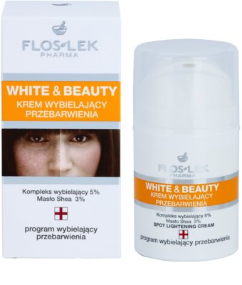 FlosLek Pharma White & Beauty crema cu efect de albire pentru tratament local 2