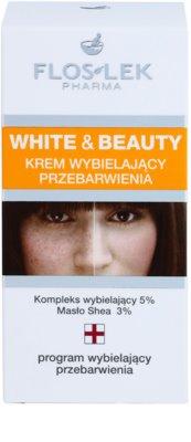 FlosLek Pharma White & Beauty crema cu efect de albire pentru tratament local 3