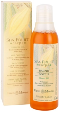 Frais Monde Spa Fruit gel de ducha chocolate y almizcle blanco 1