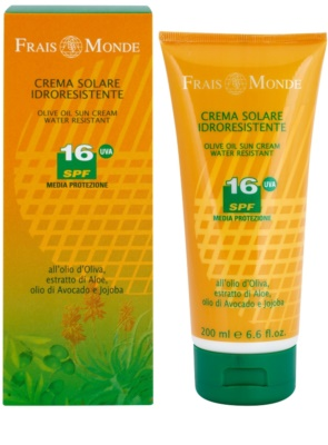 Frais Monde Sun wasserfeste Bräunungscreme SPF 16 1