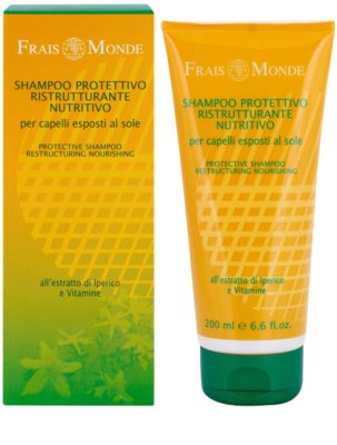 Frais Monde Sun защитен шампоан  за коса увредена от слънце, хлор и солна вода 1