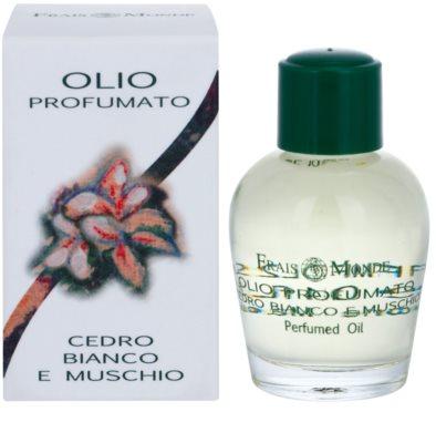 Frais Monde White Cedar And Musk parfémovaný olej pre ženy