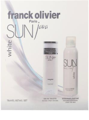 Franck Olivier Sun Java White Men set cadou 2