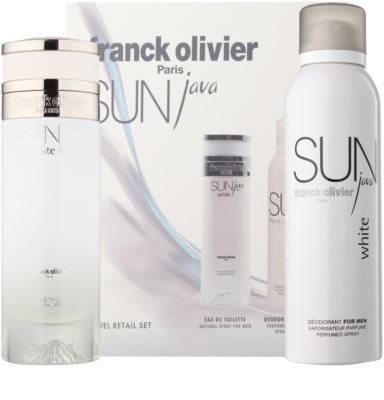 Franck Olivier Sun Java White Men set cadou