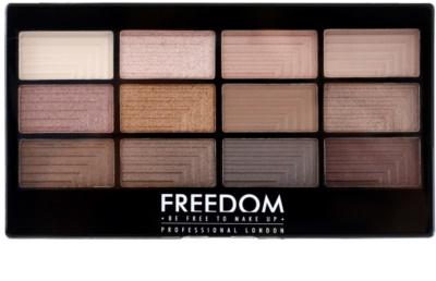 Freedom Pro 12 Audacious 3 paleta očných tieňov s aplikátorom