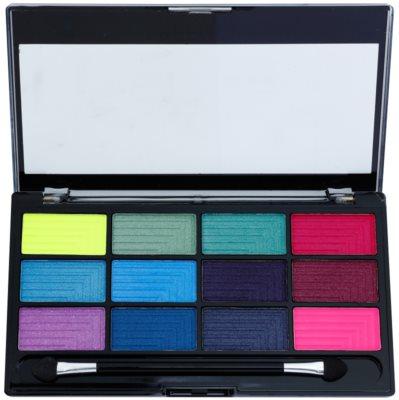 Freedom Pro 12 Chasing Rainbows paleta cieni do powiek z aplikatorem