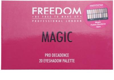 Freedom Pro Decadence Magic Palette mit Lidschatten mit einem  Applikator 3