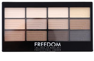 Freedom Pro 12 Audacious Mattes paleta cieni do powiek z aplikatorem