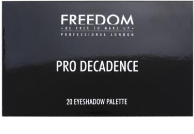 Freedom Pro Decadence Rock & Roll Queen paleta de sombras  com aplicador 2