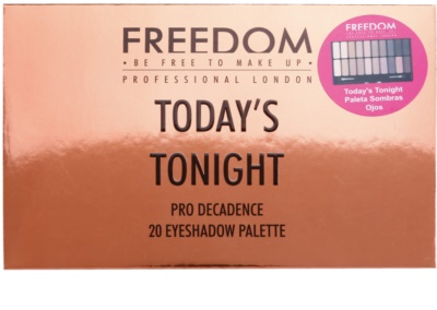 Freedom Pro Decadence Today´s Tonight Palette mit Lidschatten mit einem  Applikator 3