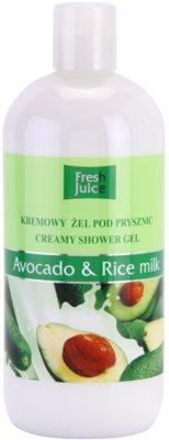 Fresh Juice Avocado & Rice kremasti gel za prhanje