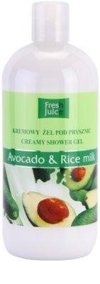 Fresh Juice Avocado & Rice krémový sprchový gel