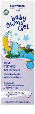 Frezyderm Baby zklidňující gel na citlivé dásně při prořezávání prvních zoubků 2