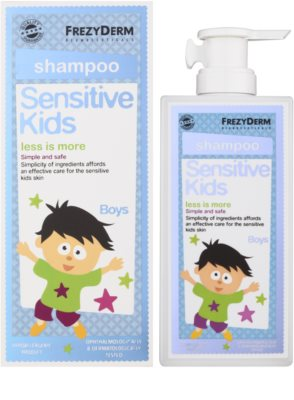 Frezyderm Sensitive Kids For Boys champú para el cuero cabelludo sensible e irritado 1