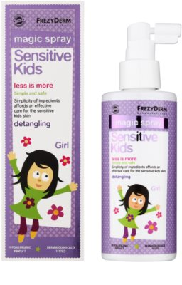 Frezyderm Sensitive Kids For Girls acondicionador en spray sin enjuague para cuero cabelludo sensible 1