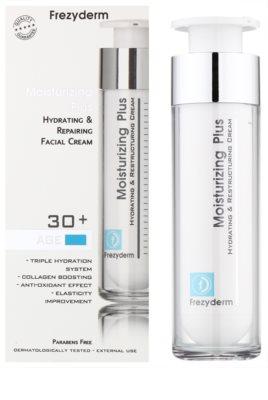 Frezyderm Moisturizing Plus crema hidratante regeneradora para rostro 30+ 1