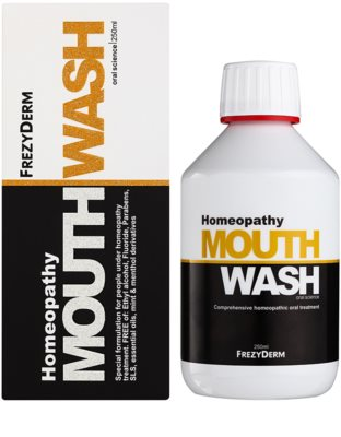 Frezyderm Oral Science Homeopathy ústní voda pro kompletní ochranu zubů bez fluoridu 2