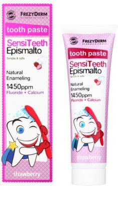 Frezyderm SensiTeeth Epismalto pasta do zębów dla dzieci o smaku truskawki 1