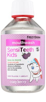 Frezyderm SensiTeeth Kids enjuague bucal para niños con sabor a frutas del bosque