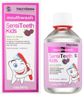 Frezyderm SensiTeeth Kids enjuague bucal para niños con sabor a frutas del bosque 2
