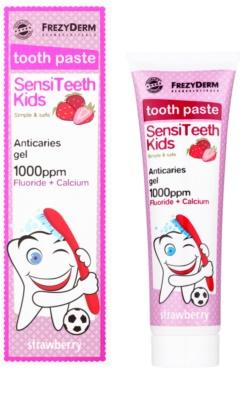 Frezyderm SensiTeeth Kids Zahnpasta für Kinder mit Erdbeergeschmack 1