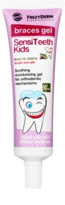 Frezyderm SensiTeeth Kids beruhigendes Gel für das Zahnfleisch für Benutzer fester Zahnklammern