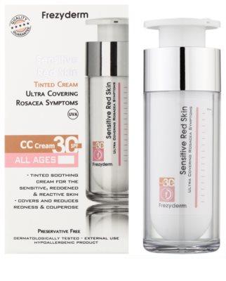 Frezyderm Sensitive krem CC dla wrażliwej skóry skłonnej do zaczerwienień SPF 30 1