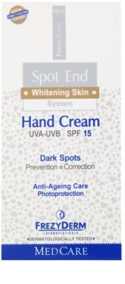 Frezyderm Spot End creme de mãos iluminador contra manchas de pigmentação SPF 15 2