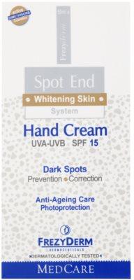 Frezyderm Spot End aufhellende Handcreme gegen Pigmentflecken SPF 15 2