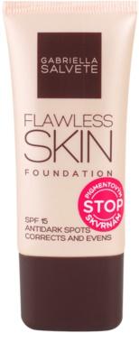 Gabriella Salvete Flawless Skin base para correção das manchas de pigmentação SPF 15