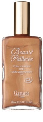 Gamarde Beauté Pailletée золотиста олійка для тіла з блискітками у формі гелю