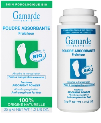 Gamarde Foot Care Excessive Perspiration frissítő lábpúder az erőteljes izzadás ellen 1