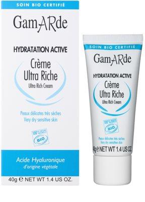 Gamarde Hydratation Active globinsko vlažilna in hranilna krema  za suho in občutljivo kožo 1