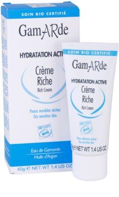 Gamarde Hydratation Active crema hidratante y nutritiva para pieles secas y sensibles 1