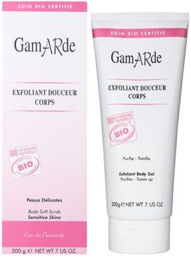 Gamarde Hygiene jemný zklidňující peelingový gel na tělo 1