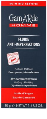 Gamarde Men fluido matificante e de limpeza  contra imperfeições de pele 2