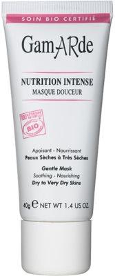 Gamarde Nutrition Intense intenzív tápláló maszk száraz és nagyon száraz bőrre