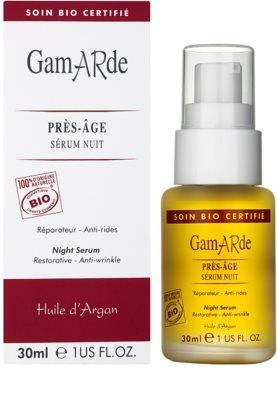 Gamarde Anti-Ageing sérum de noche antiarrugas nutritivo para rostro, cuello y escote 1