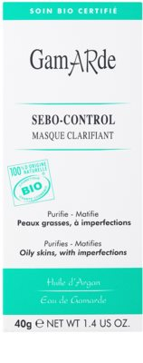 Gamarde Sebo-Control mascarilla limpiadora para reducir el exceso de sebo y suavizar poros 2